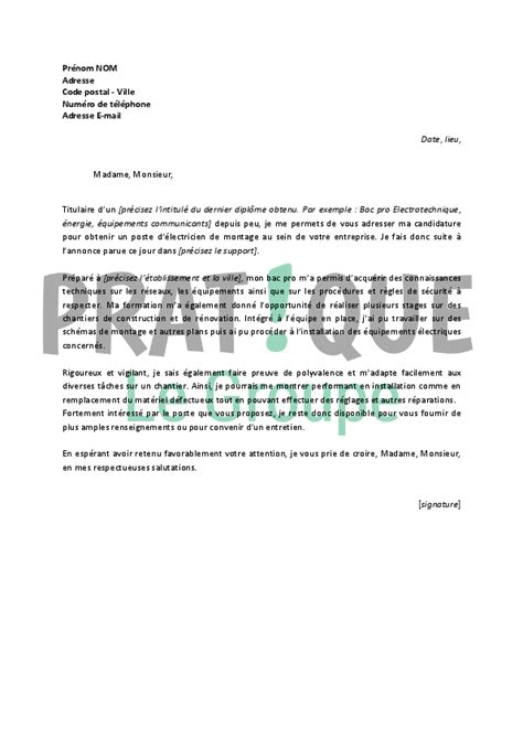 Lettre De Motivation Anglais Ingénieur Informatique lettre de motivation premier emploi employment application