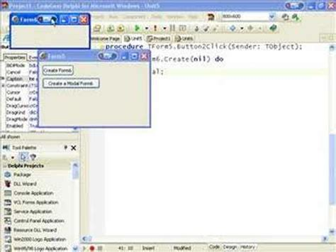 c tutorial for delphi programmers delphi programming tutorial 26 form creation youtube