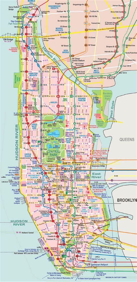 subway map new york city manhattan nyc subway map manhattan only