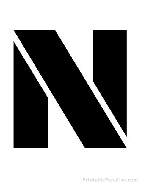 Letter N Images printable letter n stencil print stencil for letter n