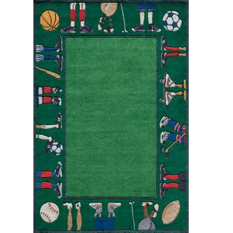 Sports Rugs On Sale Grass Color Polyester Hand Tufted Sports Rugs