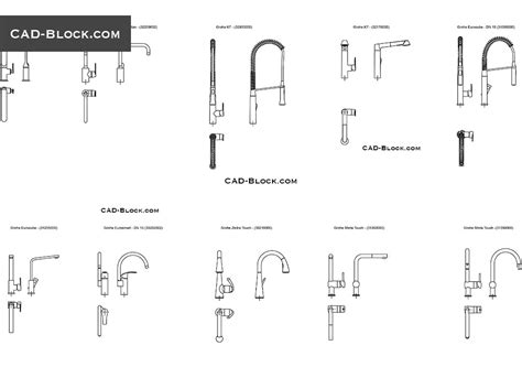 Faucet Cad Block by Kitchen Faucets Cad Blocks Free