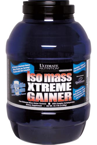 Ultimate Nutrition Whey Gainer ultimate nutrition iso mass xtreme gainer