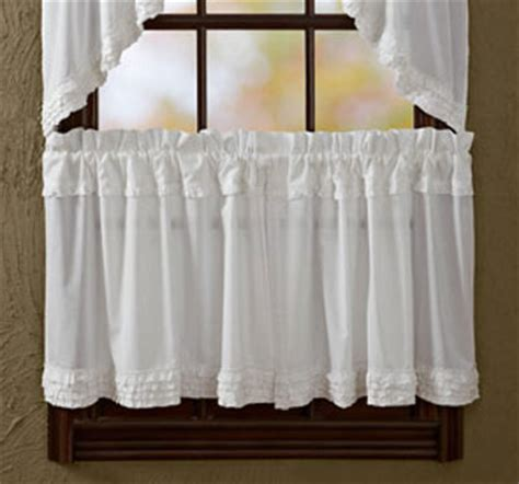 white sheer cafe curtains white ruffled sheer 24 inch tier victorian heart the