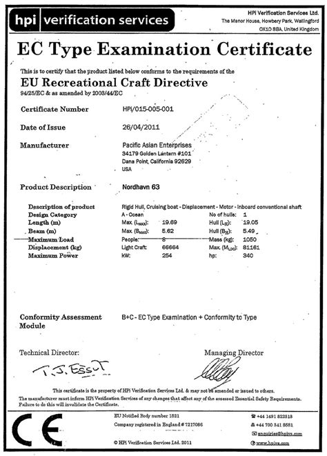 welcome to nordhavn power thats oceans apart - Ce Boat Certification Categories