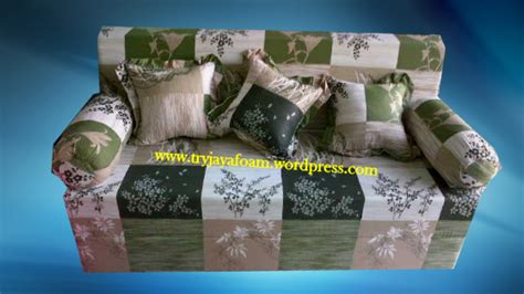 Sofa Bed Inoac Venus Hijau 1 sofa bed 3 in 1 cover motif bunga padi hijau try jaya
