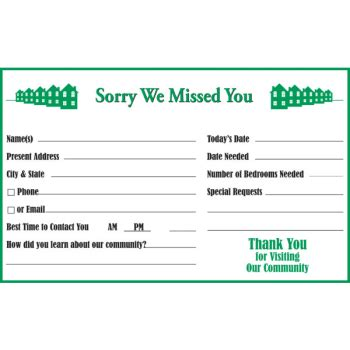 sorry we missed you card template sorry we missed you information center cards package of