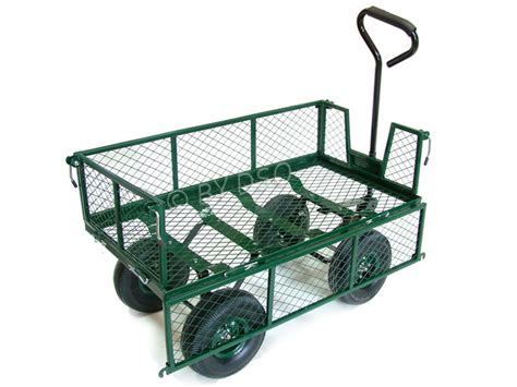 Large Gardener S Supply Cart Green Blade Large 4 Wheel Garden Cart Trolley With Fold