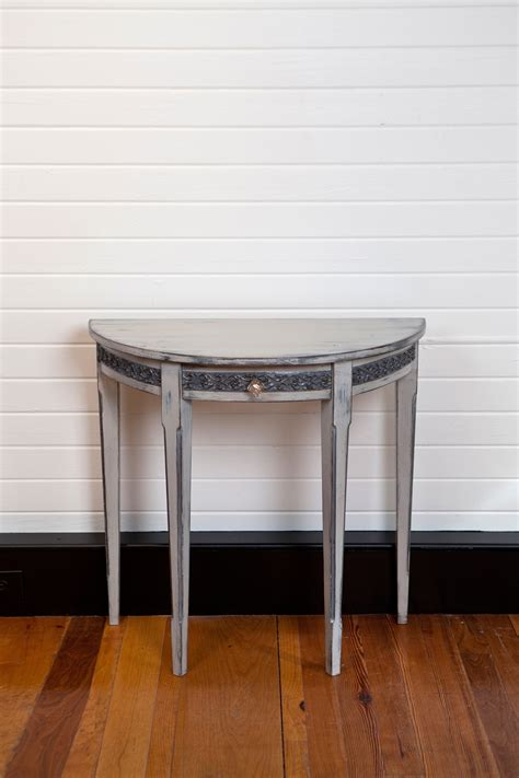 Furniture: Mesmerizing Half Moon Accent Table With Elegant