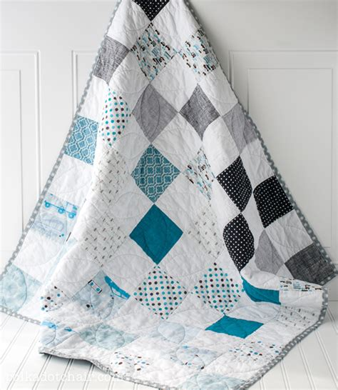 Best Baby Quilt Patterns by Color Blocked Baby Quilt Patterns Free Pattern Polka