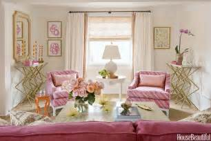 gold and pink living room design contemporary living