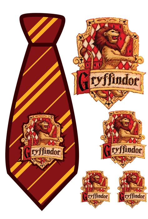 harry potter tie template elemonade harry potter gryffindor tie print out harry