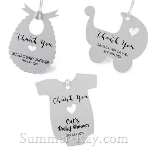 Baby Shower Gift Tag by Personalized White Baby Shower Favor Tags Gift Tags