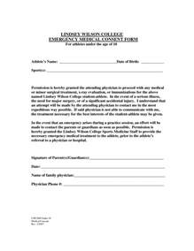 Medical Treatment Authorization Letter For A Minor Generic Medical Consent Form For Minor Dlisa Blog