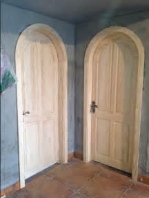 gm017 wood plate wood doors interior door set arched door