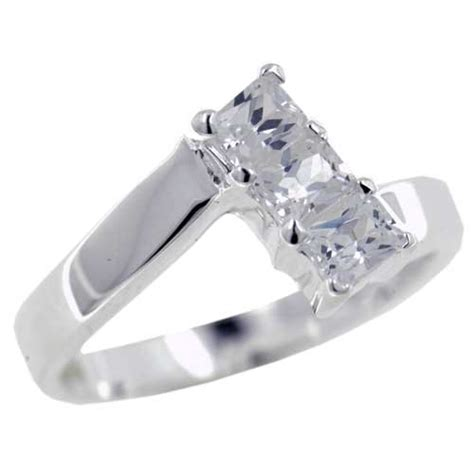 size 7 emerald cut cz promise ring promise rings size