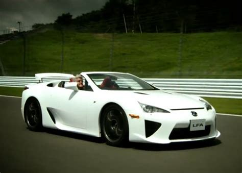 lexus lfa convertible jay leno drives lexus lfa roadster in its motherland