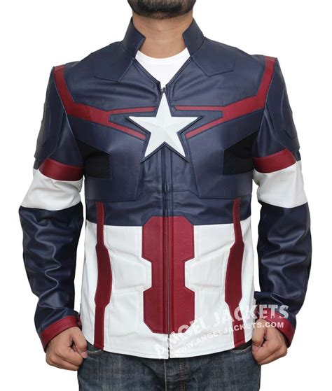 Capt America Jacket age of ultron captain america jacket angeljackets