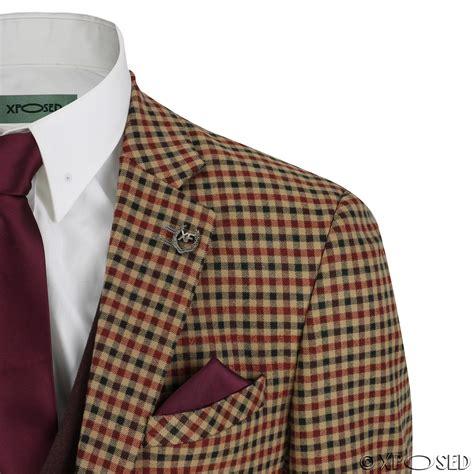 False Two Pieces Fashion Mens Plaid Vest Small Jackets Coats But 1 mens vintage 3 suit plaid tartan check slim fit jacket waistcoat trouser