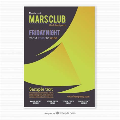 party poster template origami style vector free download