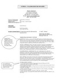 Usajobs Resume Exle by Usa Resume Builder Student Resume Template