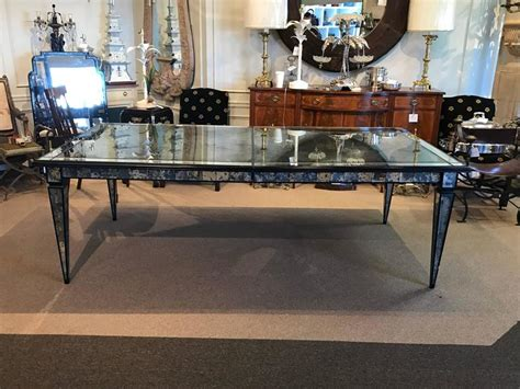 Mirrored Dining Room Tables by Stunning Maison Jansen Mirrored Dining Room Table For Sale