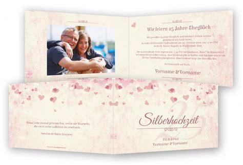 Einladungskarten Zur Silberhochzeit by Silberhochzeit Vorlage Einladungskarte Feinekarten