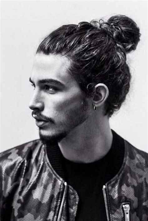 mens hair long pony on top buzz side and back 15 men ponytail hairstyles mens hairstyles 2018