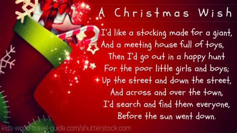 best christmas poems for kids poems for top 10 poems for children