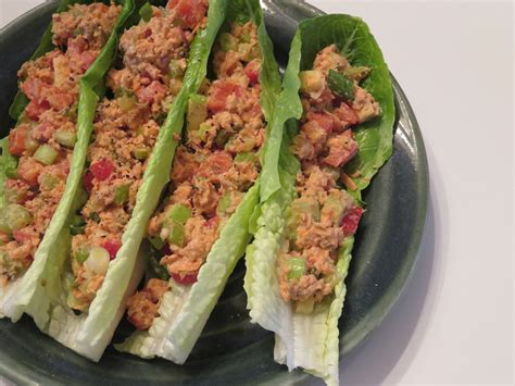 Boat Brand Pickled Lettuce salmon salad on lettuce boats be naturally fit