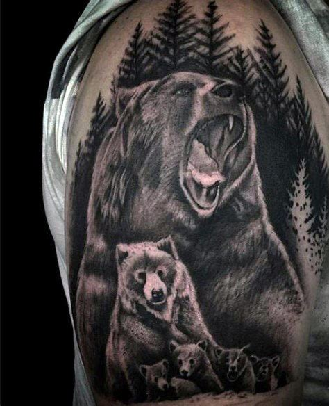 60 bear tattoo designs for men masculine mauling machine