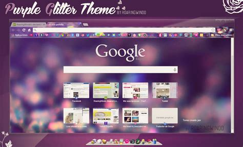 theme google chrome glass purple glitter theme for google chrome by roaringwindd on