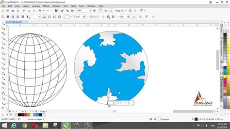 fungsi layout corel draw make a world map design in corel draw x7 youtube