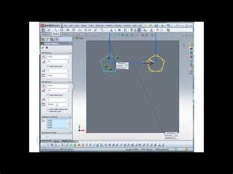 linear pattern solidworks youtube solidworks sketching using linear patterns youtube