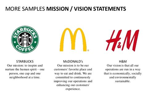 landers visions a full service production promotion vision mission statement english