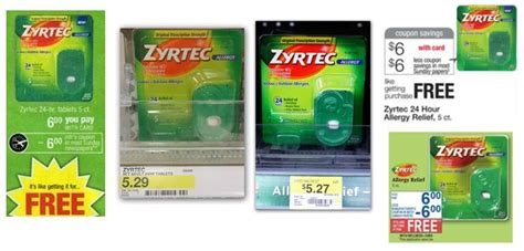 Zyrtec Sweepstakes - 6 zyrtec printable coupon and deals that make it free
