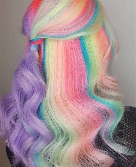 mermaid colored hair pin by kya on hair color hair styles dyed hair