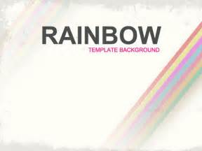 Rainbow Powerpoint Template Free by Rainbow Background Design