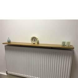 rounded radiator shelf 1200x150x18mm oak mastershelf
