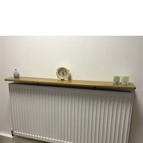 On Shelf by Rounded Radiator Shelf 1200x150x18mm Oak Mastershelf