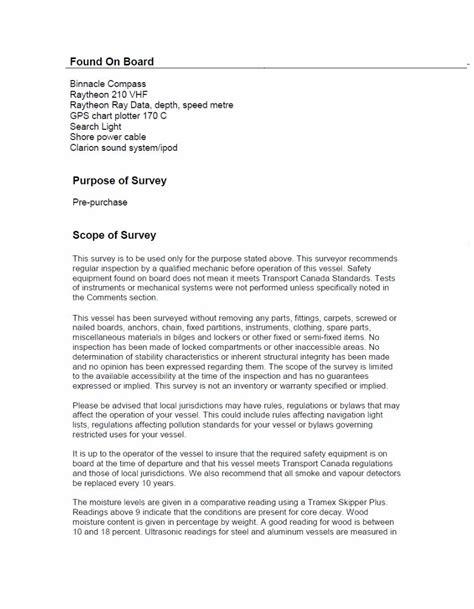 marine survey template marine survey report 2