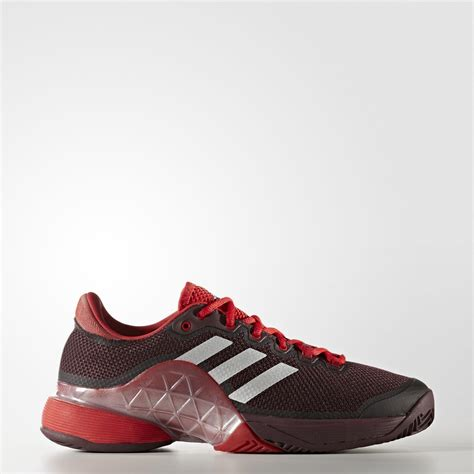 adidas mens barricade  tennis shoes burgundy red