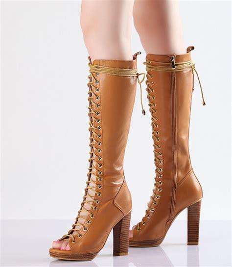 custom made platform boots knee high boots thick heel