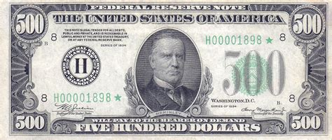 one for the money series 1 five hundred dollar bill us 1934 money us currency us