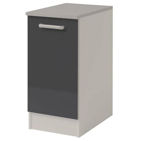 meuble bas cuisine 1 porte meuble bas cuisine 1 porte 40cm quot shiny quot gris