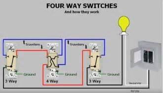 3 way and 4 way switch wiring diagram