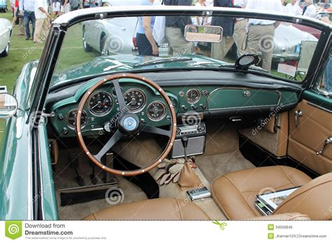 vintage aston martin interior classic aston martin interior editorial photo image of