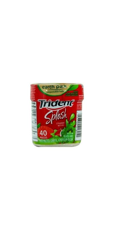 hacks for getting sugarfree gum off clothing buy trident splash strawberry with kiwi sugar free gum bottle at well ca free shipping 35 in