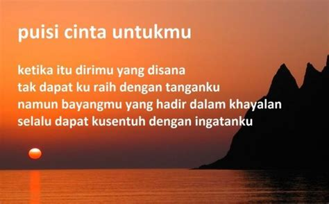syair puisi cinta sajak cinta terbaik  kekasih romantis menyentuh hati