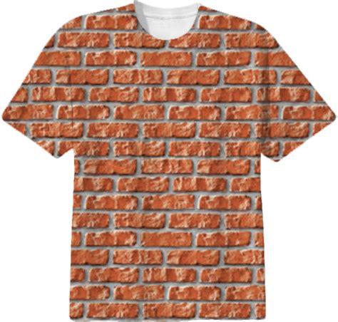 Brick Pattern T Shirt   shop brick wall t shirt cotton t shirt by r nd0m f 0n